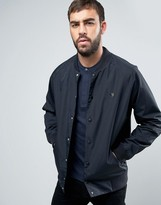 Farah Bellinger Nylon Bomber Jacket In Black
