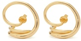 Charlotte Chesnais Round Trip gold-plated earrings