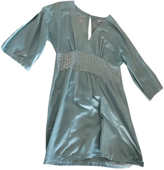 Non Signã© / Unsigned Turquoise Silk Dresses