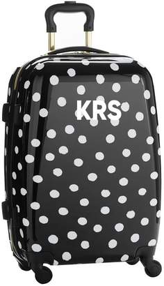 Pottery Barn Teen The Emily & Meritt Hard-Sided Black/White Dot Carry-On Spinner