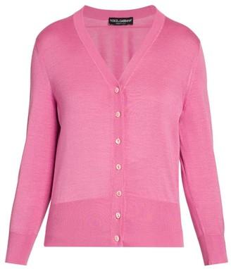 Dolce & Gabbana V-Neck Silk Knit Cardigan