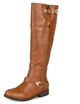 Journee Collection Barb Wide Calf Women Round Toe Synthetic Knee High Boot.