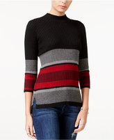 Sanctuary Pierre Striped Mock-Neck Sweater