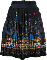 Sacai tribal lace wrap front shorts - women - Polyester/Cupro - 2