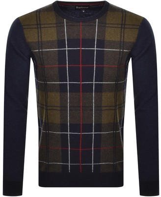 Barbour Coldwater Crew Neck Knit Jumper Navy