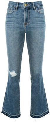 Frame Mid Rise Kick Flare Jeans