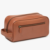 Polo Ralph Lauren Leather Shave Kit Wash Bag, Tan