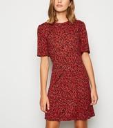New Look Spot Short Sleeve Jersey Mini Dress