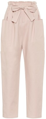 RED Valentino Stretch-cotton high-rise pants