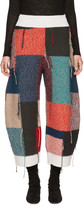 Stella McCartney Multicolor Wool Patchwork Trousers