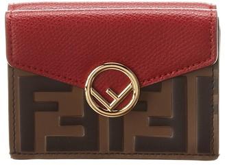 Fendi Micro Trifold Leather Wallet