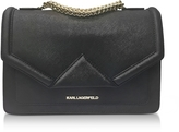 Karl Lagerfeld K/Klassik Black Leather Shoulder Bag