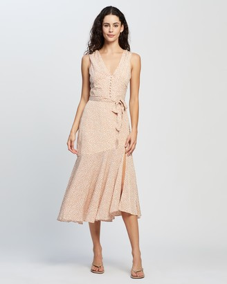 Forcast Naia Tie-Waist Maxi Dress