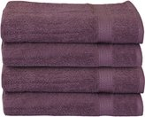 Ringspun Cotton Large Hand Towels (Plum, 4-Pack,16 x 28 inches) - Multipurpose Use for Bath, Hand, Face, Gym and Spa - By Utopia Towels