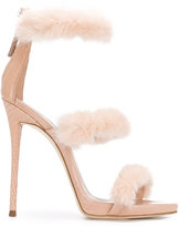 Giuseppe Zanotti Design Harmony Winter sandals - women - Leather/Mink Fur - 36
