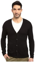 John Varvatos Long Sleeve Cardigan Sweater w/ Contrast Piping Y1327S3B