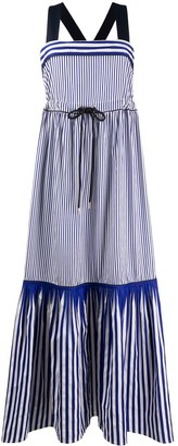 Tommy Hilfiger Striped Fish-Tail Maxi Dress
