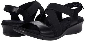Ecco Finola Sandal (Black Cow Leather) Women's Shoes