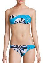 Emilio Pucci Two-Piece Parasol Print Bandeau Bikini