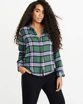Abercrombie & Fitch A&F Women's Flannel Shirt in Green - Size XS