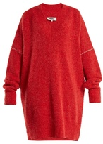 MM6 MAISON MARGIELA Oversized V-neck knit dress