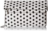 La Regale Polka Dot Foldover Clutch