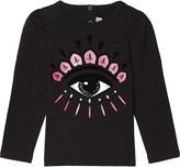 Kenzo Eye print cotton long-sleeved top 3-18 months