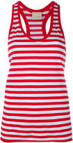 Laneus striped scoop neck vest top - women - Cotton/Nylon - XS