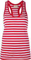 Laneus striped scoop neck vest top - women - Cotton/Nylon - XS