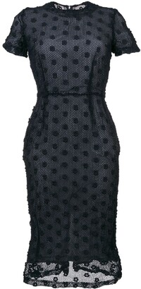Comme Des Garçons Pre Owned Short Sleeve Crochet Dress