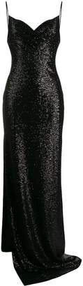 Balmain long sequinned dress