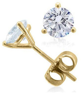 Zales 2 CT. T.W. Diamond Solitaire Stud Earrings in 18K Gold (I/VS2)