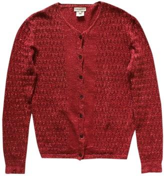 Dries Van Noten Burgundy Cotton Knitwear
