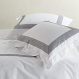 Coyuchi Organic Cotton Lattice Gray Duvet Cover, Full/Queen