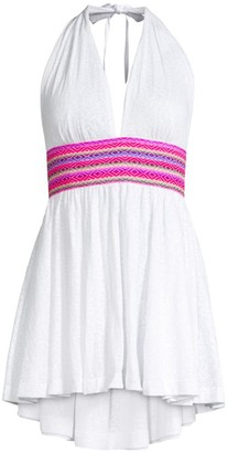 Pitusa Halter Smocked Cover-Up