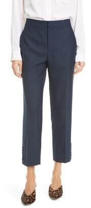 Club Monaco Flat Front Button Cuff Pants