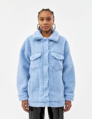 Which We Want Women's Cheyanne Trucker Jacket in Blue, Size Small   Spandex