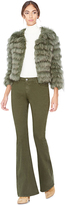 Alice + Olivia Army Fawn Fur Jacket