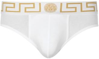 Versace Iconic Stretch-cotton Briefs
