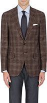 Isaia Men's Sanita Plaid Two-Button Sportcoat