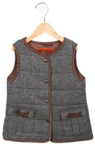 Jacadi Girls' Quilted Wool Vest