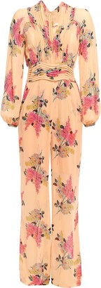 By Ti Mo Printed Crepe Jumpsuit