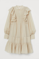H&M Ruffle-trimmed Tunic - Beige