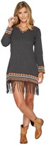 Scully Galatea Fringe Bottom Embroiderd Dress Women's Dress