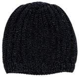 Il Gufo Girls' Metallic Knit Beanie