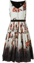 Marc Jacobs floral degradé print dress - women - Cotton/Spandex/Elastane - 8