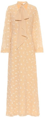 Chloé Embroidered silk maxi dress