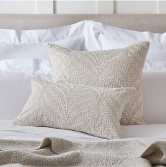 The White Company Clermont Embroidered Square Linen Cushion Cover