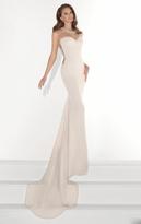 Tarik Ediz Illusion Sweetheart Sheath Gown 92824