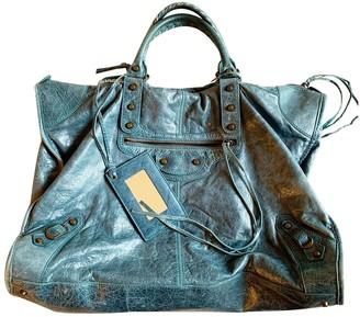 Balenciaga Weekender Metallic Leather Handbags